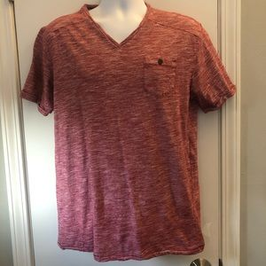 🏵 Men's MBX brick red short sleeved V-neck tee Lg